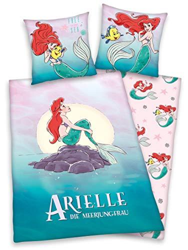 Herding Disney`s Arielle Bettwäsche-Set, Cotton, mehrfarbig, 80 x 80 cm, 135 x 200 cm