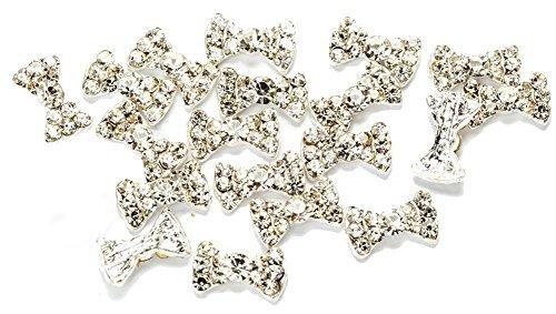 Precio valor Nail Art uñas arte decoraciones con protector de pantalla juego de 20 3D diamantes de imitación bucles translúcido de VAGA