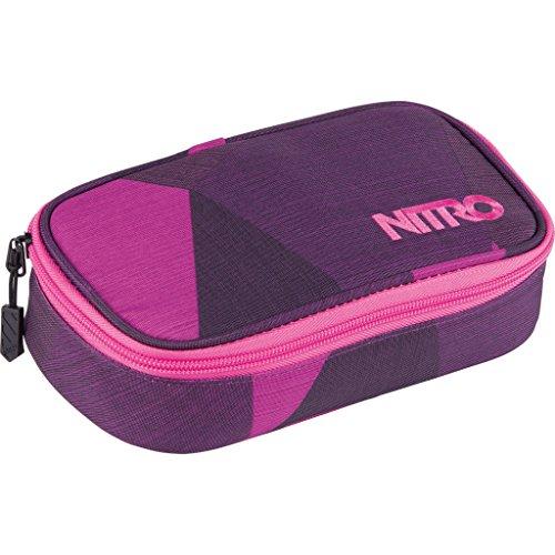 Nitro Pencil Case XL inkl. Geo Dreieick & Stundenplan, Federmäppchen, Schlampermäppchen, Faulenzer Box, Federmappe, Stifte Etui,  Fragments Purple