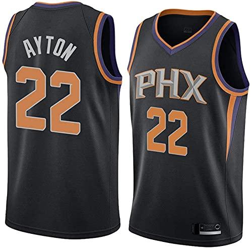 XUECHEN Ropa Jersey para Hombres - NBA Phoenix Suns # 22 Deandre AYTON Baloncesto Uniforme, Transpirable y Sudor Training Training Uniform, Negro, M (170~175cm) (Color : Nero, Size : L(175~180CM))