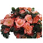 Champagne-Azalea-Fake-Silk-Flower-Lifelike-Chain-Hanging-Cone-Basket-Artificial-Flowers-for-Home-Decoration