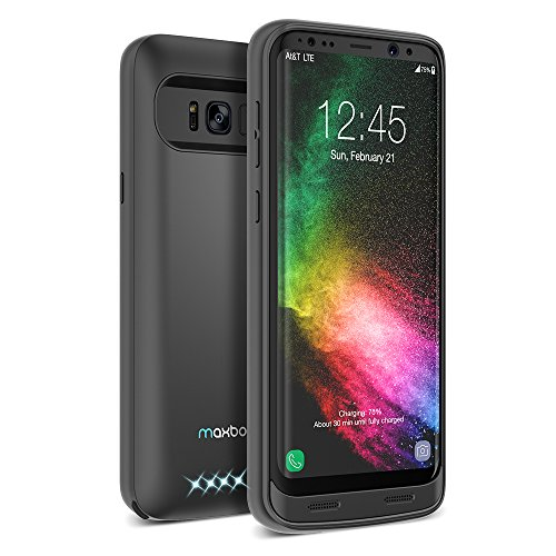 Galaxy S8 Plus Battery Case, Maxboost Atomic Power 5000mAH Charging Battery Pack for Samsung Galaxy s8 Plus / s8+ Extended Fast Charger [Quick Charge Compatible] Protective Case Juice Bank (MB000153)