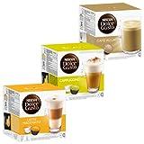 Nescafé Dolce Gusto Crème Kit: Latte Macchiato, Cappuccino, Au Lait, 3 x 16...