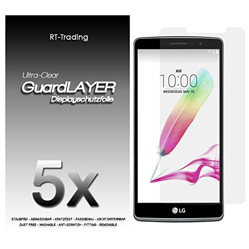 5x LG G4 Stylus - Bildschirm Schutzfolie Klar Folie Schutz Bildschirm Screen Protector Bildschirmfolie - RT-Trading