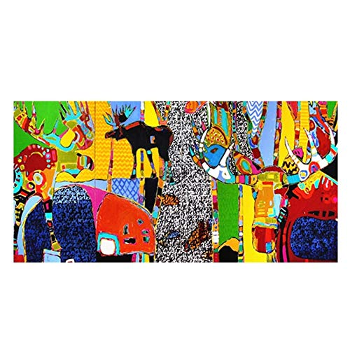 BGFDV Abstract cartoon animals on canvas decorative oil painting poster prints living room art pictures on the wall