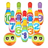 Hyrrt Kids Bowling Toy Set, Indoor Outdoor Bowling Games for Children/Toddlers/Boys/Girls for Early Development/Sport/Preschool (10 Pins & 2 Bowling)
