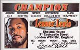 Lennox Lewis de carnet de conducir/Fake I.D. Identificación para los Fans de boxeo