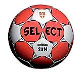 Select HB Dänemark - Balón de fútbol rojo / blanco Talla:1