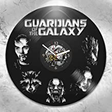 The Guardians of the Galaxy 2, 2017, Vinyl wall Clock, Home Decor, Marvel Comics, Wall Decor, Groot, Star Lord, Drax, Movie, Vintage Vinyl Record, Wall Art, Best Gift for Boyfriend, Xmas Gift For Kids