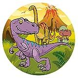Dekora - Disco Comestible de Dinosaurio para Decoración de Tartas de Cumpleaños - 20 cm (236028)