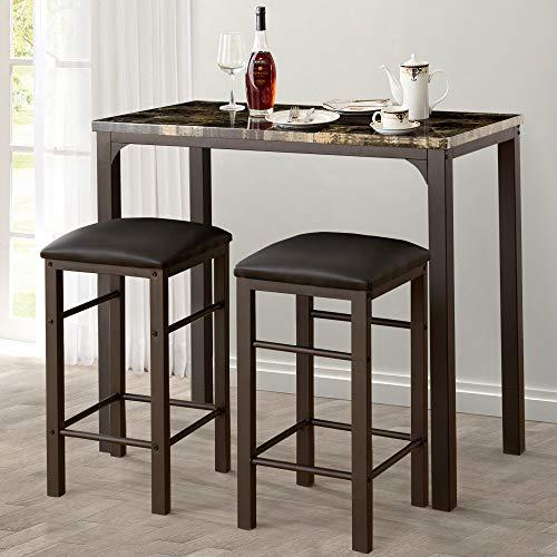 pub table and bar stools - 2