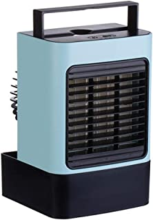 Portable Air Cooler, Mini Portable Air Conditioner Fan Noiseless Evaporative Air Humidifier, Personal Space Air Conditione...