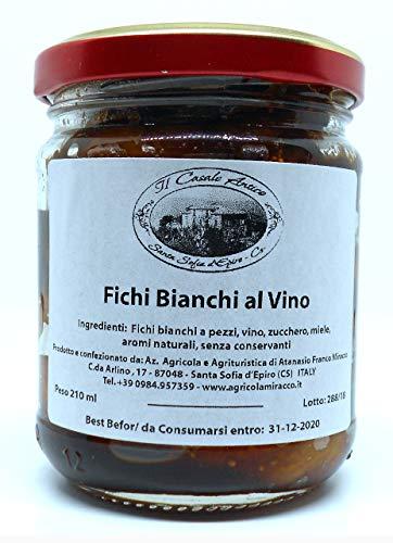 Italiaanse biologische witte vijgen met wijn