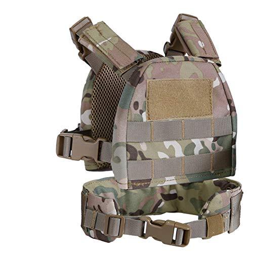 Forart Children (Tactical) Conjunto de Chaleco 1000D, Tops de protección para niños Cinturón de Cintura Accesorios de Ropa Deportiva 2-6 Año/Y/T, Paintball Combat Swat Chaleco Respirable