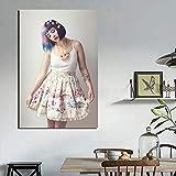 NIMCG Melanie Martinez Pop Art Wallpaper Canvas Painting Print Living Room Decoración del hogar Modern Wall Art Oil Painting Poster Picture (Sin Marco) 20x30CM