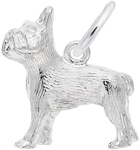 Rembrandt French Bulldog Charm - Metal - Sterling Silver