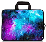 12 inch Neoprene Laptop Carrying Bag Chromebook Case Tablet Travel Cover with Handle Zipper Carrying Sleeve Case Bag Fits 11 11.6 12 12.1 12.5 inch Netbook / Laptop (11-12.5 inch, Galaxy)