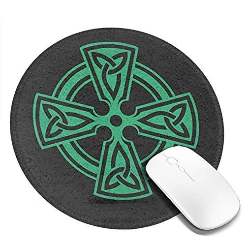 Cel-Tic Cross Kn-Ot Irish Sh-Ield Wa-Rrior Cute Mouse Pad with Design, Non-Slip Rubber Base Mousepad, Waterproof Office Mouse Pad