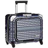 [レジェンドウォーカー] スーツケース ジッパー BLADE 機内持ち込み可 フロントオープン 6206-44 保証付 32L 40 cm 3kg ラフカーボンネイビーシルバー