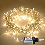 JMEXSUSS 100LED 49.2ft Indoor/Outdoor Fairy String Lights 30V 8 Modes Christmas Lights for Home, Christmas Tree, Wedding Party, Room,Wall Decoration, UL588 Approved (100LED, Warm White)