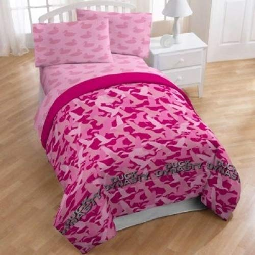 A&E Duck Dynasty Pink Camo Comforter, Twin/Full