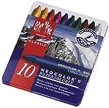 Caran d'Ache : Neocolor II: crayón de acuarela: 10 en una caja metálica