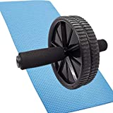 FONESO Roller Wheels Abdominal Exercise Equipment Ab Roller Anti-Slip Handles Workout Wheel Fitness