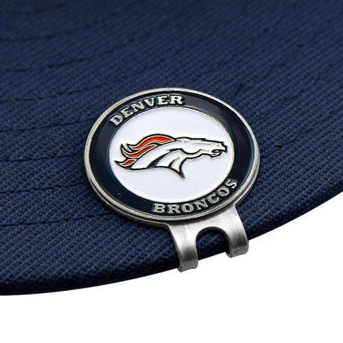 Team Golf NFL Denver Broncos Golf Cap Clip with 2 Removable Double-Sided Enamel Magnetic Ball Markers, Attaches Easily to Hats