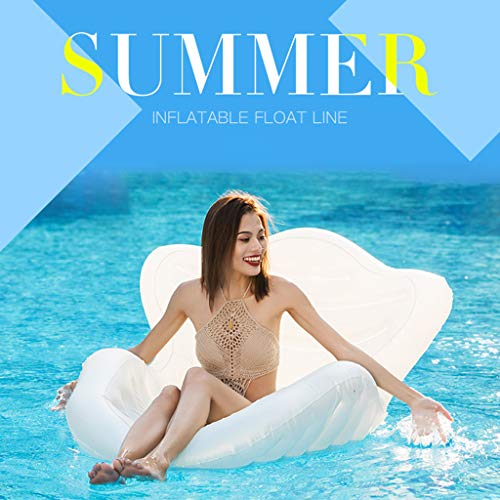 Great Price! YUDIAN Unisex's Pool Sit Floats, Pool Inflatable Lounger, Summer Outdoor Floating Seat Water Hammock, White, 150 x 165 x 68 cm