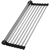 Dullrout Rollable Stainless Steel Roll Up Dish Drying Rack