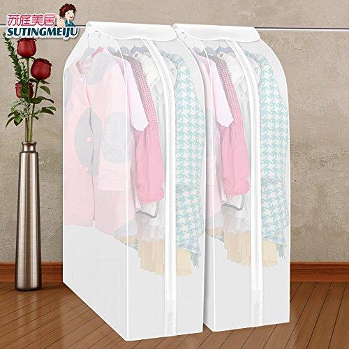 CrazySell Set di 2 Organizzazione guardaroba Buste Custodie Copriabiti Copertura Vestiti Protettiva , Trasparenti (30*60*90cm)