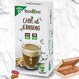 Foodness Capsula Caffè al Ginseng Compatibile Nespresso Con Zucchero Di Canna - 4 Box da 10 Capsule [Tot. 40 Capsule] Il Più Venduto.