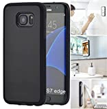 [ Monca ] Anti Gravity Cellphone Case [Black] Magical Nano Technology Stick to Wall, Glass, Whiteboards, Tile, Smooth Flat Surfaces (Goat Case for Galaxy S7 Edge)