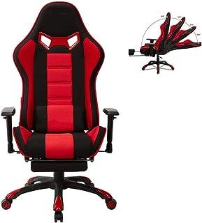 Silla para juegos de computadora, Juegos de PC for sillas de oficina que compite con silla ergonómica escritorio silla de masaje PU cuero reclinable silla de la computadora con silla de trabajo Soport