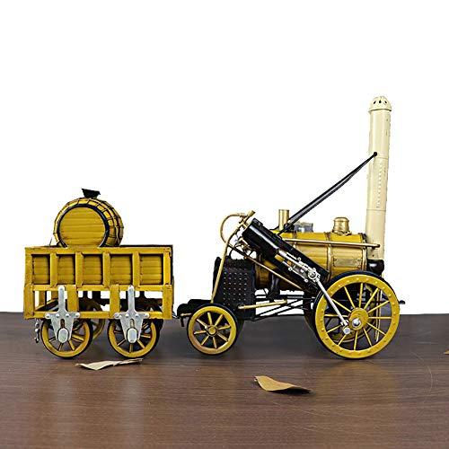 Warmth Supplies Retro Metal Steam Engine Lokomotive Modell Dekoration Tv Cabinet Weinschrank Home Decoration Collection