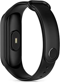 LINGJIA Pulsómetros Monitor De Frecuencia Cardíaca Reloj Inteligente Smart Sports Fitness Tracker Running Fitness Reloj Inteligente Hombres Mujeres Recordatorio De Llamada Pulsera Negro