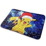 SanRe Pikachu Puzzle-Teppich für den Innen- und Außenbereich, rutschfest, 39,9 x 59,9 cm