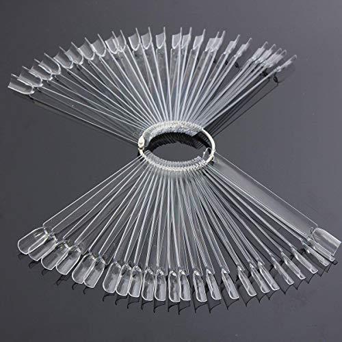 SWIN Transparentes Nagel-Set für künstliche Fingernägel, zum Üben, Make-up, Kombination, Kunst, Nagelstyling, beliebtes Nagelkreation, DIY, manuelles Basteln, Nagelset zum Üben