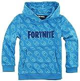Epic Games FORTNITE - Sudadera con capucha para niño (talla 140, 152, 164, 176-10, 12, 14, 16 años), color azul azul 12 años