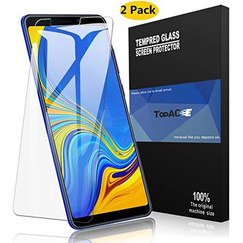 TOPACE Panzerglas für Samsung Galaxy A9 2018, (2 Stücke) Ultra Dünn 9H Festigkeit Ultra-HD Schutzfolie Blasenfrei Anti-Kratzer Anti-Öl Gehärtetes Glas Bildschirmschutzfolie für Samsung Galaxy A9 2018