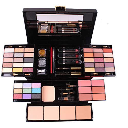 FantasyDay 54 Farben Multifunktions Exquisite Kosmetik Geschenkset Makeup Schmink Kit für Gesicht, Augen und Lippen - Makeup Paletten Schminkkoffer mit Lidschatten Palette, Lippenstift, Rouge, Mascara
