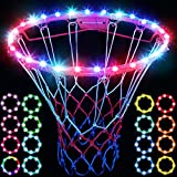 LED Basketball Hoop Light, Remote Control Waterproof Basketball Rim Lights with 17 Colors and 7 Lighting Modes, Super Bright Basketball Goal Accessories for Kids Adults Boys Outdoor Game and Training