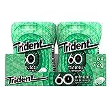 Trident Hierbabuena- Chicles sin Azúcar con Sabor a Hierbabuena- 6 Botes de 72 g