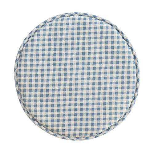 ILMF Round Cushion, Cotton Linen Soft Breathable Seat Cushion Comfort Non Skid Chair Pad Great for Nursery Living Room Bedroom-diameter:33cm(13inch) 1 Pack-L