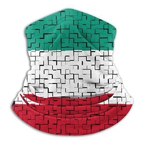 Linger In Kuwait Flag Puzzle Neck Warmer Kopfbedeckung Gesicht Schal Unisex