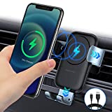 TORRAS 【2021 Upgrade】 Wireless Charging Car Mount,【Auto-Clamping】 10W/7.5W/5W Wireless Car Charger Mount Air Vent Car Phone Holder for iPhone 11 Serise/X/XR Samsung Galaxy S20/S10/S9 Note 20 Ultra10