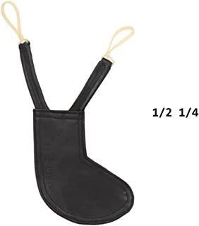 WANDIC Violin Pad, 1PC Smart Chinrest Cover Leather Shoulder Pad for Violin and Viola Medium Size 1/4 or 1/2