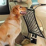 Red de Coche para Perros Mascota Barrera de Red de Coche para Perro Red de Seguridad de Coche Vallas de Coche para Perros Red de Seguridad para Barrera de Mascotas para Coche, Camiones y SUV (Negro)