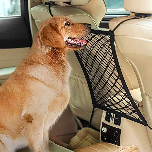 GNOUQW Rete di Sicurezza Universale per Cani Domestici Rete di Sicurezza per Auto Pet Auto Barriera per Cani Rete Cane Auto Barriera per Cani Divisorio per Cani Animal Bambini per Sicurezza, Nero