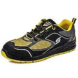 Safetoe Zapatos de Seguridad Hombres y Mujer, L-7501 Botas de Seguridad de Tipo Transpirable, Puntera de Material Punta de Acerol Ligeros Calzado, Zapatillas de Seguridad para Plantilla mas Comodas